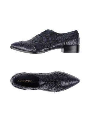 Обувь на шнурках GIANCARLO PAOLI. Цвет: грифельно-синий