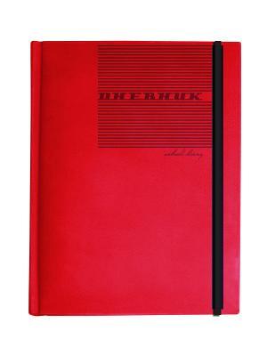Дневник школьный на резинке megapolis velvet (красный) Альт. Цвет: красный