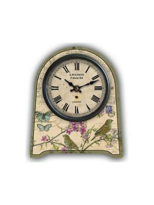 Часы настольные Бабочки и птички Magic Home. Цвет: бежевый