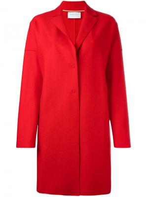 Однобортное пальто Harris Wharf London. Цвет: красный