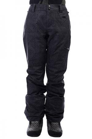 Штаны сноубордические женские  Suka+ Black Billabong. Цвет: черный,серый