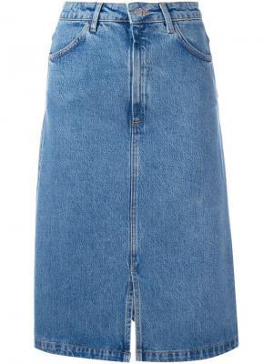 Джинсовая юбка Parra Mih Jeans. Цвет: синий