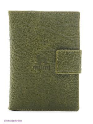 Бумажник водителя Dimanche. Цвет: зеленый, черный