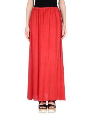Длинная юбка MY T-SHIRT. Цвет: красный