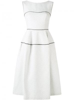 Textured panel dress Talbot Runhof. Цвет: белый