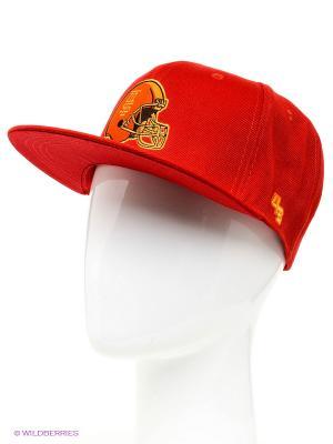 Кепка Helmet 4thes3ts. Цвет: красный