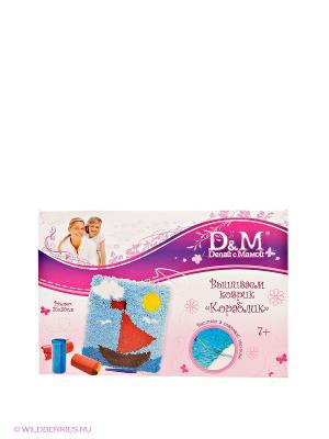 Набор для вышивания коврика Кораблик Делай с мамой. Цвет: голубой