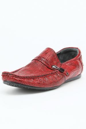 Мокасины Etor. Цвет: бордовый, лизард 168535