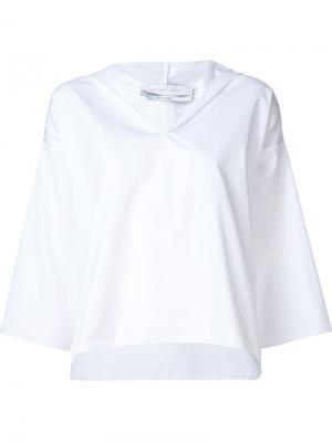 V-neck hoodie Jeffrey Dodd. Цвет: белый