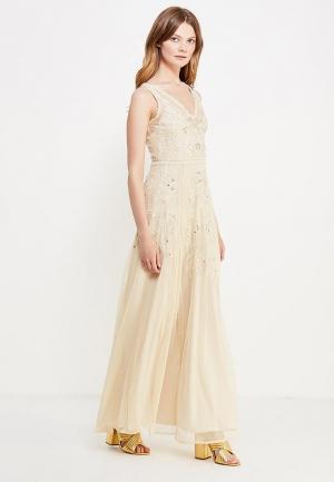 Платье Miss Selfridge. Цвет: бежевый