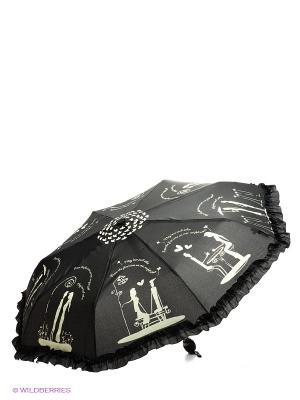 Зонт Emme. Цвет: черный, молочный