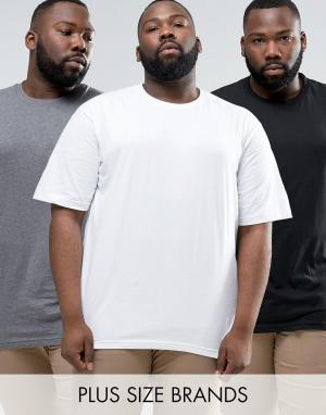 Dickies Набор из 3 футболок PLUS. Цвет: мульти