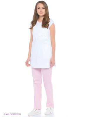 Брюки Med Fashion Lab. Цвет: бледно-розовый