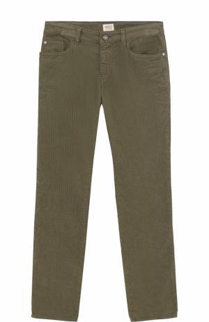 Вельветовые джинсы прямого кроя Armani Junior. Цвет: хаки