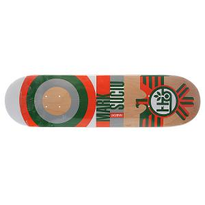 Дека для скейтборда  Su5 Sucui Raptor Orange 32.5 x 8.25 (21 см) Habitat. Цвет: бежевый,оранжевый,зеленый