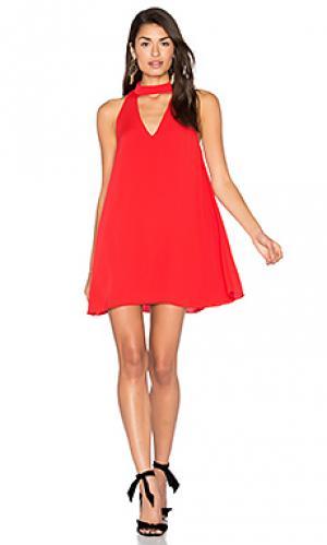 Платье cassia Amanda Uprichard. Цвет: красный