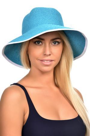 Шляпа DelMare. Цвет: бирюзовый