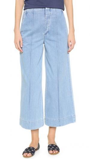 Укороченные джинсы в стиле брюк Karla GOLDSIGN. Цвет: голубой