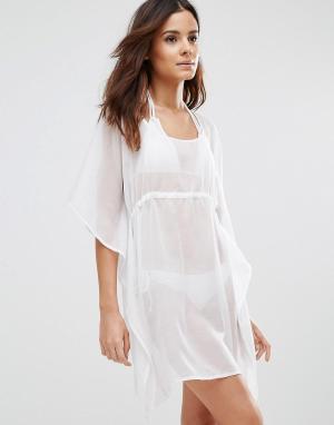Echo Свободное пляжное платье. Цвет: белый