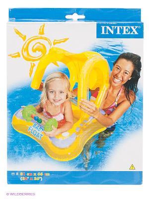 Надувной круг Intex. Цвет: желтый
