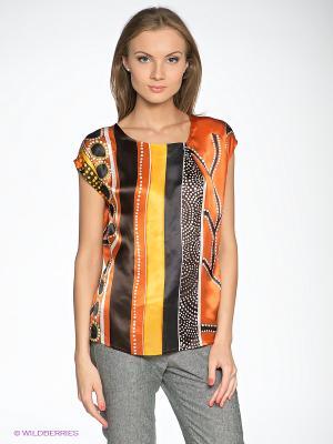 Кофточка Elegance. Цвет: оранжевый, желтый, черный