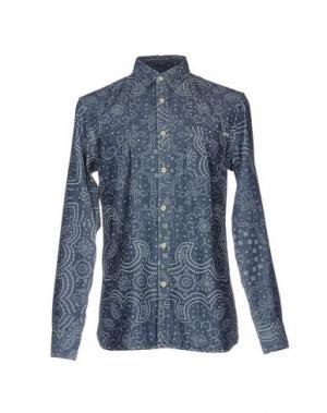 Джинсовая рубашка JACK & JONES VINTAGE. Цвет: синий