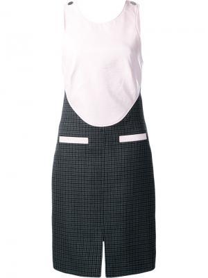 Платье с перекрещенными лямками сзади Courrèges. Цвет: розовый и фиолетовый