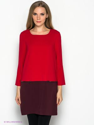 Платье Vero moda. Цвет: красный, бордовый