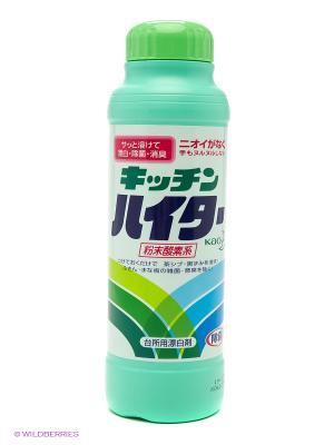 Кухонный порошковый отбеливатель Haiter  на основе кислорода 520 г КАО. Цвет: бирюзовый