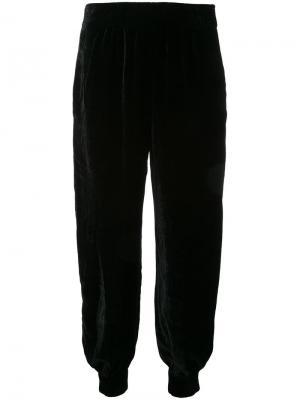 Бархатные брюки Nehera. Цвет: чёрный