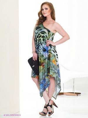 Платье МадаМ Т. Цвет: зеленый, сиреневый