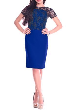 Платье REBECCA TATTI. Цвет: электрик с черным