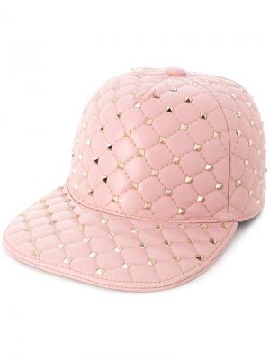 Кепка  Garavani Rockstud Spike Valentino. Цвет: розовый и фиолетовый