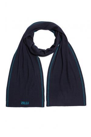 Кашемировый шарф с шелком 158189 Zilli. Цвет: синий