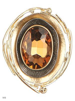 Брошь L'Art Bijoux. Цвет: коричневый