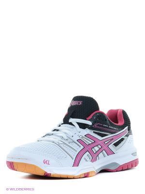Волейбольные кроссовки GEL-ROCKET 7 ASICS. Цвет: белый, малиновый, черный