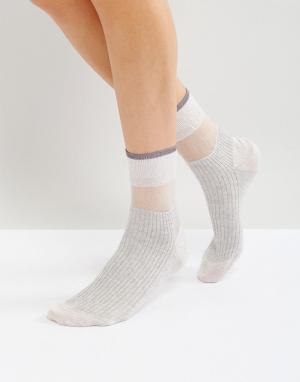 Jonathan Aston Серебристые носки. Цвет: серебряный