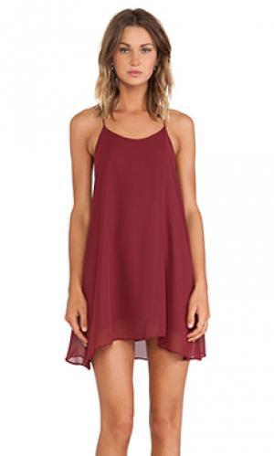 Мини платье hollywood De Lacy. Цвет: красный
