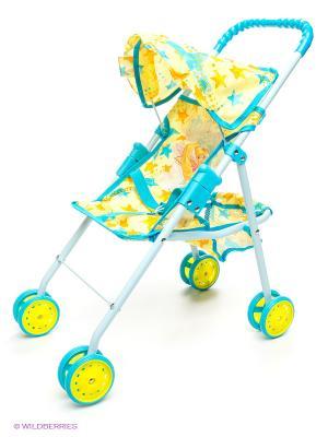 Коляска для кукол WINX CLUB. Цвет: голубой, желтый