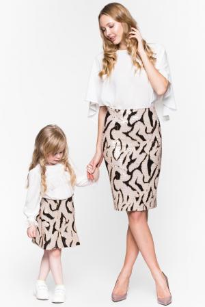 Детская юбка LM-193501 Lyargo. Цвет: бежевый