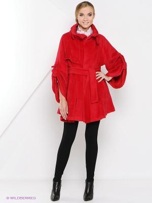 Пальто Estrade. Цвет: красный
