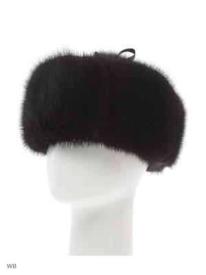 Зимняя ушанка мужская, сделана из меха ондатры крашенная темно коричневая Mex-Style. Цвет: темно-коричневый