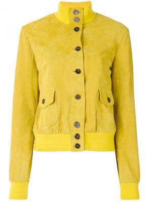 Куртка-бомбер с воротником-стойкой Simonetta Ravizza. Цвет: жёлтый и оранжевый