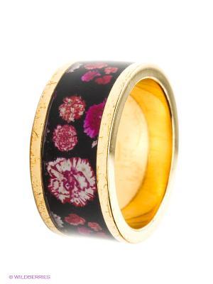 Кольцо Christian Lacroix. Цвет: золотистый, черный, розовый