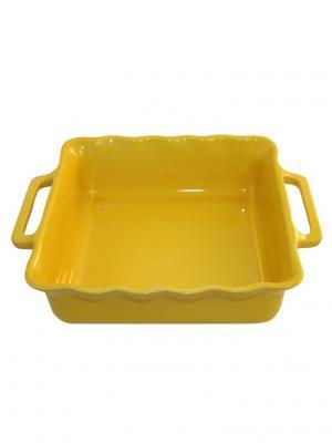 Квадратное блюдо 25 см 1,65л Appolia. Цвет: желтый