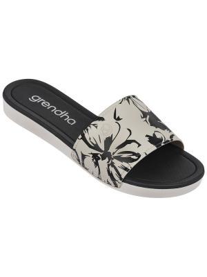 Пантолеты Grendha. Цвет: серый,черный