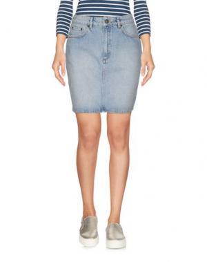 Джинсовая юбка WON HUNDRED. Цвет: синий