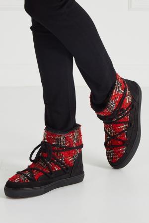 Ботинки-луноходы с твидовой отделкой INUIKII. Цвет: none