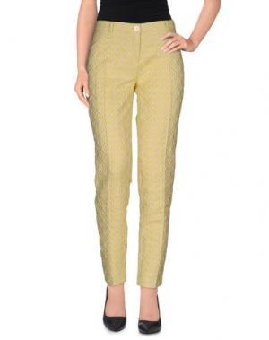 Повседневные брюки DANPOL Torino. Цвет: желтый
