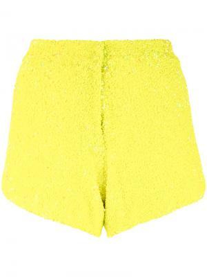 Шорты с отделкой пайетками Manish Arora. Цвет: жёлтый и оранжевый